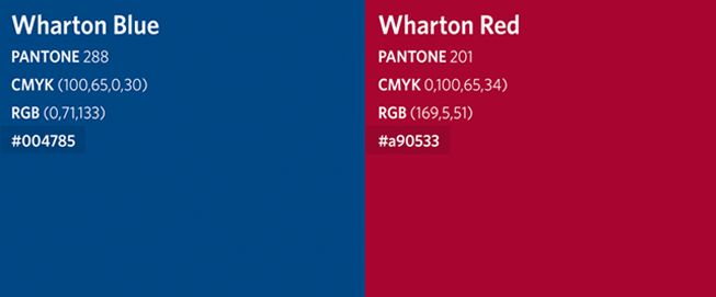 Wharton School Colors